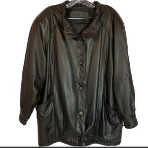 Jacqueline Ferrar leather Vintage boyfriend jacket